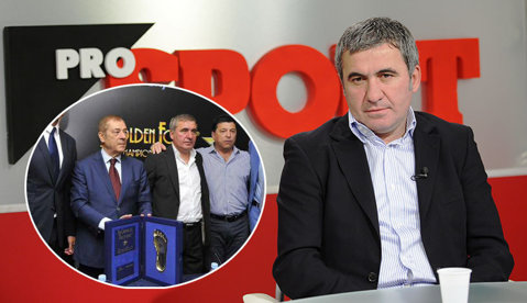 """Gheorghe Hagi a primit trofeul Golden Foot! FOTO   Talpa """"Regelui"""", imprimată pe """"Promenada Campionilor"""" de la Monte Carlo"""