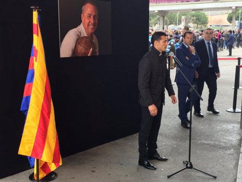 Emoţionant! Ziua în care rivalitatea a fost lăsată deoparte: ce a declarat Gâlcă la memorialul dedicat lui Johan Cruyff