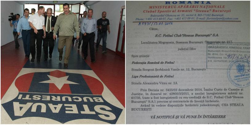 EXCLUSIV CSA Steaua ÎL SOMEAZĂ pe Gigi Becali să plătească, în 30 de zile, aproape 37.000.000 de euro! Suma reprezintă prejudiciul adus Armatei prin folosirea ilegală, în intervalul 2004-2014, a brandului Steaua | DOCUMENTE