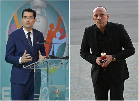 """Prunea, făcut praf de Burleanu: """"Stă cu mâna întinsă. Nu e manager, e casier!"""". Şeful FRF are o părere bună despre sine: """"Mă consider un preşedinte curajos"""""""
