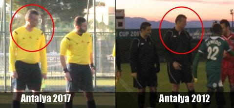 Cazul românilor care au arbitrat incognito amicale ale echipelor din Liga 1 ia amploare! Prins cu minciuna: imaginea care dovedeşte prezenţa unui arbitru în Antalya la un alt meci suspect, despre care ProSport scria încă din 2012