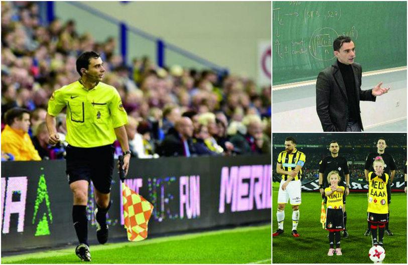"""SPECIAL   Românul cu o carieră de succes în Olanda. E arbitru şi profesor de matematică. A început din Liga a 7-a şi a ajuns până în Eredivisie. """"La început primeam 25 de euro pentru fiecare meci"""""""