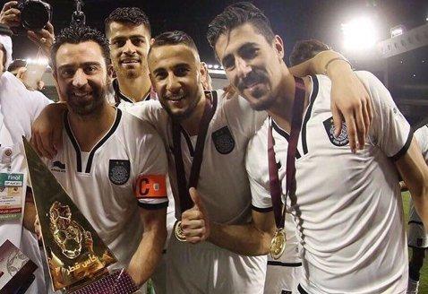 FOTO | Momente superbe trăite de Hamroun şi Xavi în Qatar. Ce performanţă au realizat cei doi