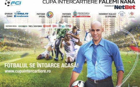 Cupa Intercartiere Falemi Nana, cea mai importantă competiţie de fotbal pentru amatori din ţară, a debutat sâmbătă, 20 mai, în Parcul Crângaşi