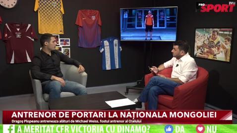 """A jucat la Dinamo, Rapid şi Oţelul, iar acum antrenează naţionala Mongoliei! Dragoş Plopeanu: """"Fotbalistul nu este respectat în România""""   ProSport LIVE 11 august"""