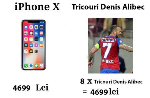 Ce evenimente aţi putea vedea cu banii pe care îi daţi pentru un iPhone X? Un tricou cu Alibec, mai scump decât unul cu Messi!