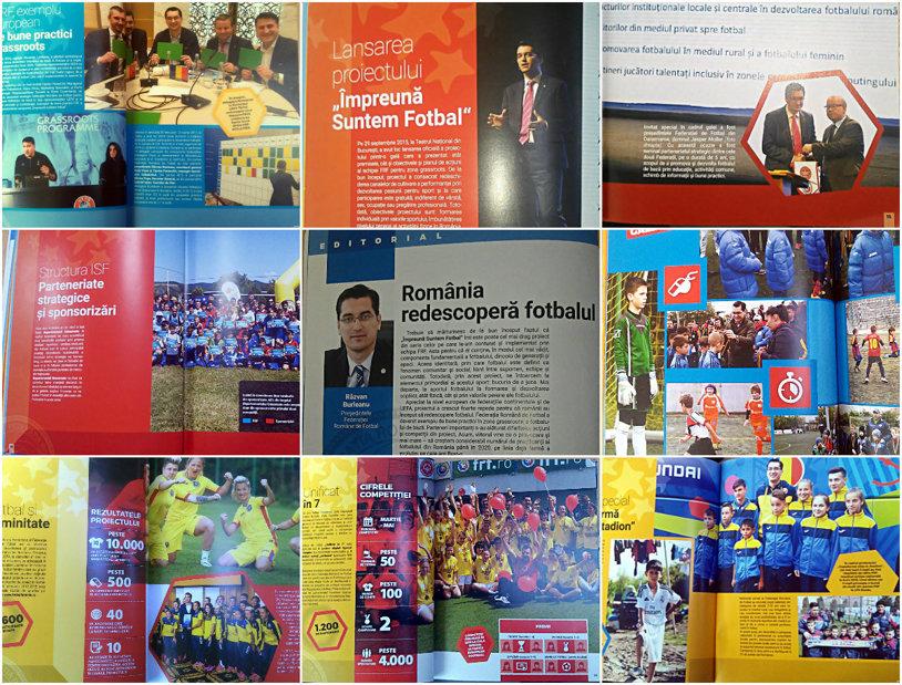 Burleanu râzând. Burleanu la masă. Burleanu şi copiii. Burleanu şi fetele. Burleanu îngândurat. Poza actualului preşedinte al FRF apare de 9 ori într-un album publicat pe banii federaţiei. Este prima oară în istoria de 108 ani a fotbalului românesc când se întâmplă aşa ceva