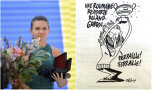 """RĂSPUNSUL României pentru caricatura Charlie Hebdo la adresa Simonei Halep! Fără teamă, cu subiect şi predicat: """"Doamna Macron..."""""""