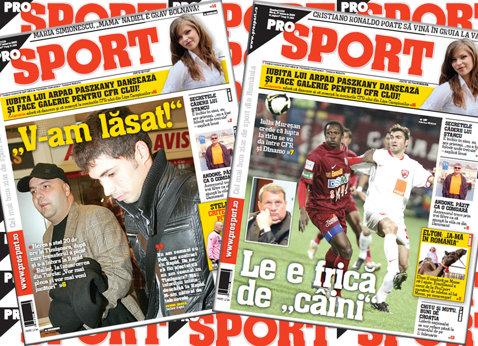"""Ediţii locale ProSport: De ce nu a semnat Herea cu Timişoara?/ CFR-ul se teme de """"câini"""""""