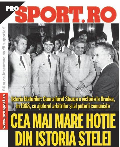 Cea mai mare HOŢIE din ISTORIA Stelei! Cum a FURAT o victorie la Oradea, în 1988