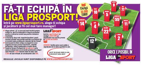 Nu rata ediţia tipărită ProSport de azi Câştigă bani în Liga ProSport cu seriile unice din ziar!