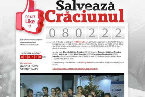 80.000 de români au dat LIKE pentru a SALVA Crăciunul acestor micuţi! Cea mai mare CAMPANIE SOCIALĂ din România!