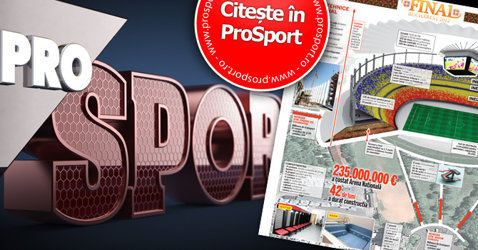 """Luni în ProSport: supliment de excepţie, GRATUIT cu ediţia tipărită """"100 de zile până la finala Europa League"""""""