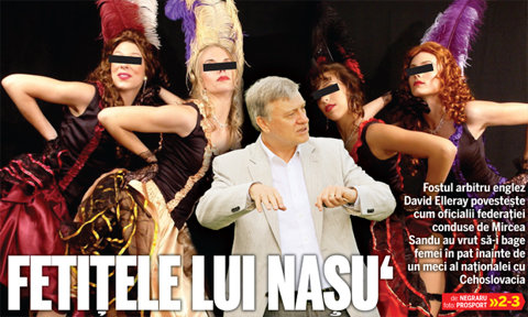 """12 cântăreţe de la Naşu' Sandu: un fost mare arbitru englez dezvăluie care era protocolul FRF înainte de meciuri: """"Erau pentru toate gusturile"""""""