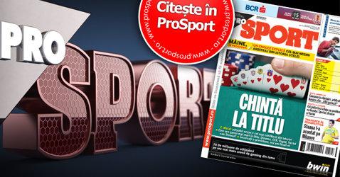 ProSport vă provoacă: anticipaţi cine va lua titlul! În ediţia tipărită de mâine aflaţi cine este campioana redacţiei