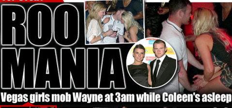 FOTO A aşteptat să adoarmă nevasta ca să plece la distracţie! Rooney şi-a făcut de cap cu mai multe fete într-un club în Las Vegas