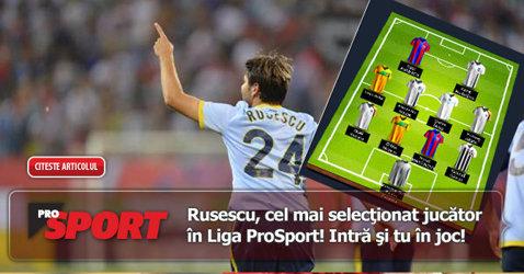 Rusescu, cel mai selecţionat jucător în Liga ProSport! Premii de peste 10.000 de euro în cel mai tare manager online din România