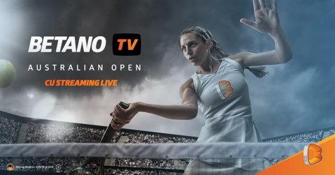 (P) Australian Open: Streaming live şi pariuri speciale pe Betano.com