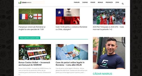 (P) S-a lansat cel mai aşteptat blog de pariuri online din România: cadarmarius.ro