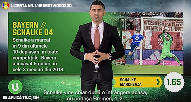 (P) Schalke marcheaza cu Bayern si scor egal la pauza - ce cote au aceste optiuni recomandate