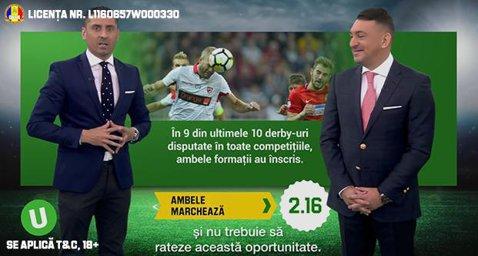 (P)Egal la pauza, egal la final, ambele marcheaza - ponturi pentru Dinamo - FCSB