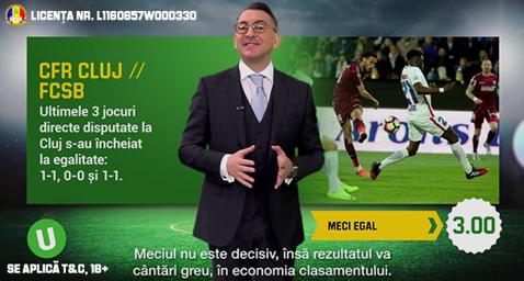 (P) 0-0 sau 1-1 in derby-ul CFR Cluj - FCSB si alte ponturi la pariuri sportive