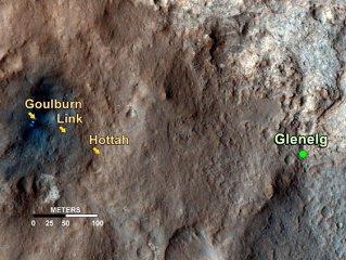 Robotul Curiosity a descoperit urmele unui fost pârâu de pe Marte