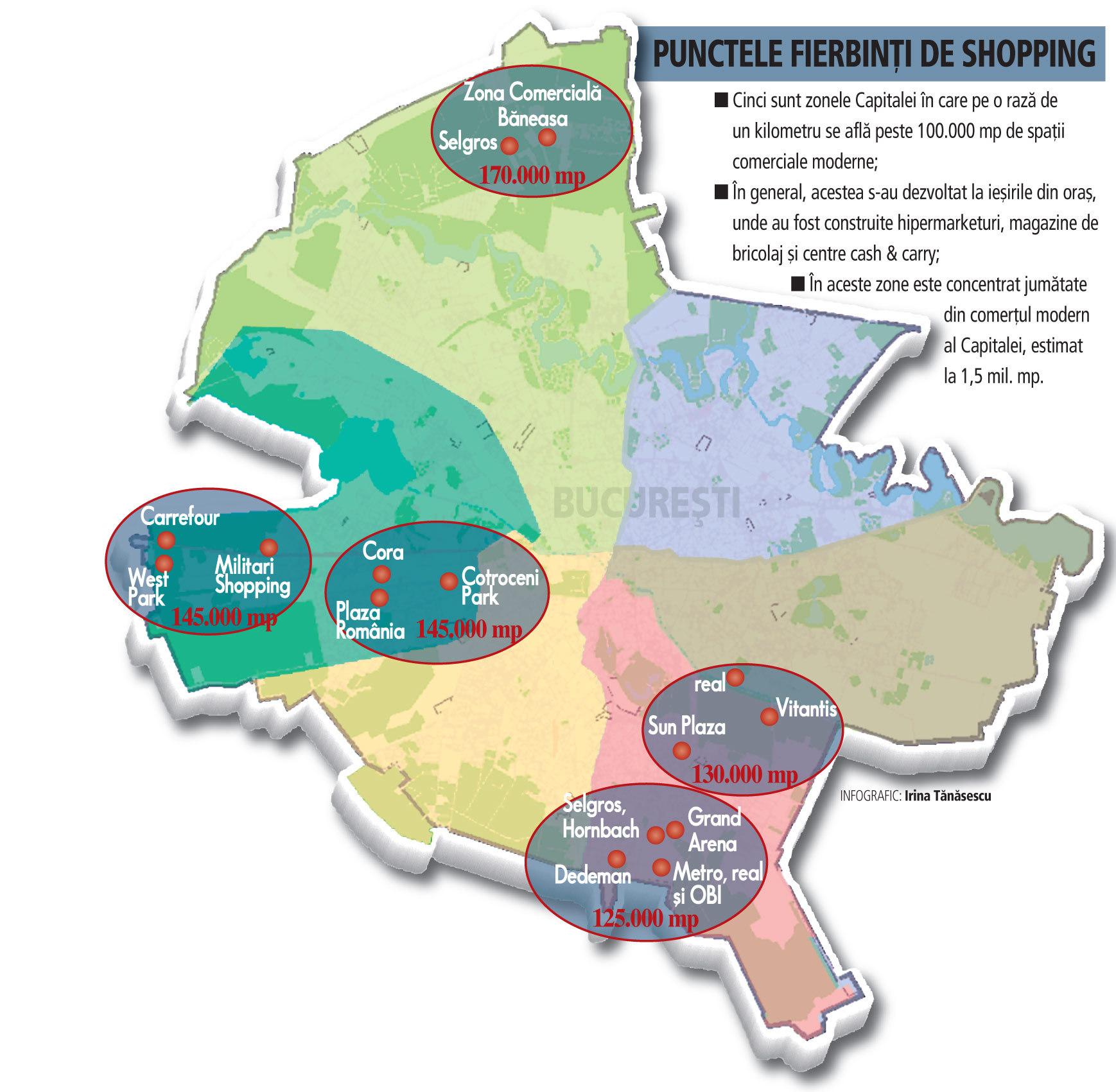 Harta Cumpărăturilor Din Capitală Unde Găsesti Cele Mai Multe