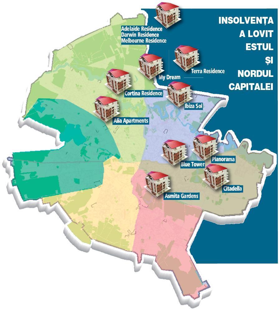 Harta Celor Mai Mari Ansambluri Rezidenţiale Din Bucuresti In