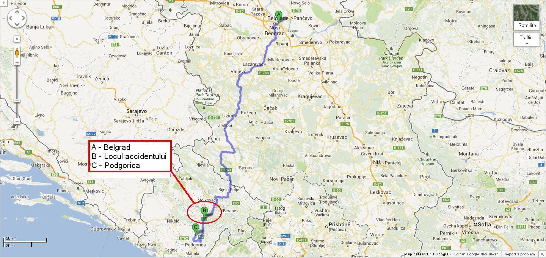 14 05 Vedeţi Pe Hartă Unde S A Prăbusit In Muntenegru Autocarul