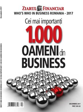 E-Paper: Who's who in business Romania - 2017. Cei mai importanţi 1.000 oameni din business