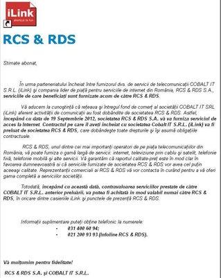 RCS&RDS a înghiţit şi iLink. Operatorul de cablu avea datorii de 25 ...