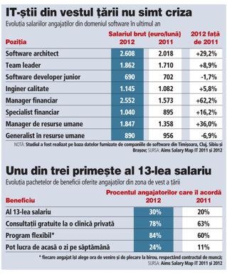 Un software architect din vestul ţării poate câştiga până la 2.000 de euro net pe lună