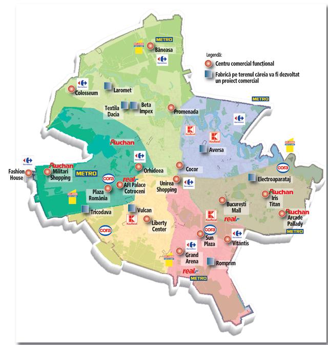Harta Mallurilor Si Hipermarketurilor Din Bucuresti