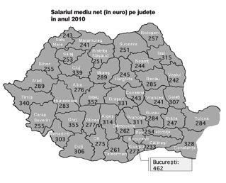 Topul salariilor pe judeţe: Bucureşti şi Sibiu, oraşele cu cel mai bine plătiţi angajaţi