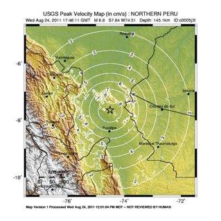 Cutremur de 6,8 grade a lovit Peru. Nu a fost emisă nicio atenţionare de tsunami pentru Hawaii