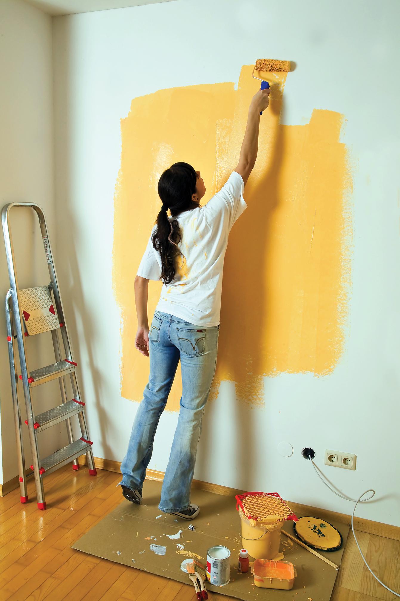 Покрасить стены в квартире фото