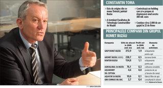 Constantin Toma a construit un holding cu afaceri de 300 milioane de euro pentru că rămăsese fără serviciu