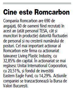 Romcarbon investeşte 8,6 milioane de euro în extinderea fabricii din Buzău