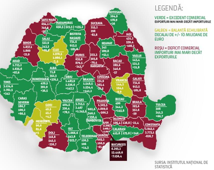Harta Comerţului Exterior Al Romaniei