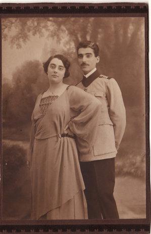 Geta şi locotenentul Constantin Ghimpeţeanu, proaspăt căsătoriţi
