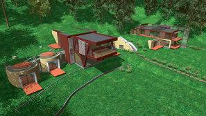 Prima locuinta bioclimatica are un sistem de tubulatura incastrata in pamant, ce aduce aport de aer rece pe timp de vara si completeaza solutiile de climatizare.