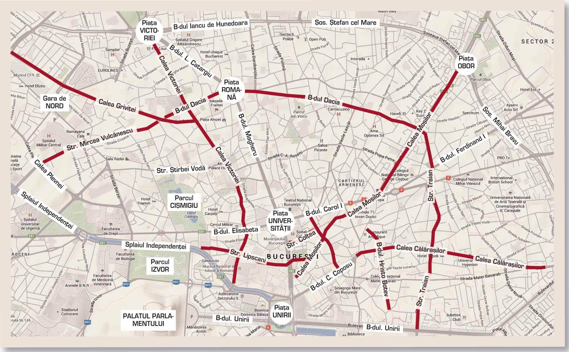 Străzile Pe Care Incă Se Află Istoria Capitalei Harta Străzilor