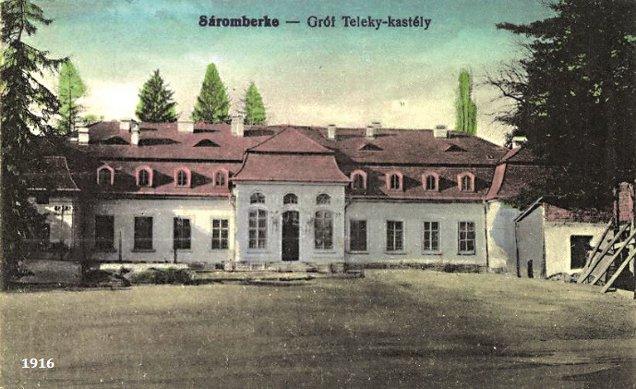 1916. Poză de arhivă̆ a castelului contelui Sá́muel Teleki, cancelar al Transilvaniei (1791-1822), Dumbră̆vioara, Mureş