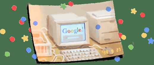 Imaginea articolului Aniversare GOOGLE. Cel mai popular motor de căutare sărbătoreşte 21 de ani de existenţă cu un doodle aniversar