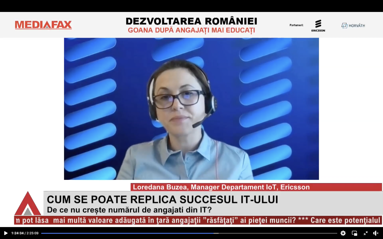 """Videoconferinţa Mediafax """"Dezvoltarea României"""": Absolvenţii de IT sunt atraşi de proiecte globale care au impact în(...)"""