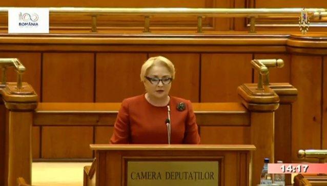 Dăncilă, discurs în Parlament despre priorităţile Preşedinţiei Consiliului UE: Vă cer decenţă în limbajul politic. Nu mai e loc de orgolii, interese sau confruntări politice