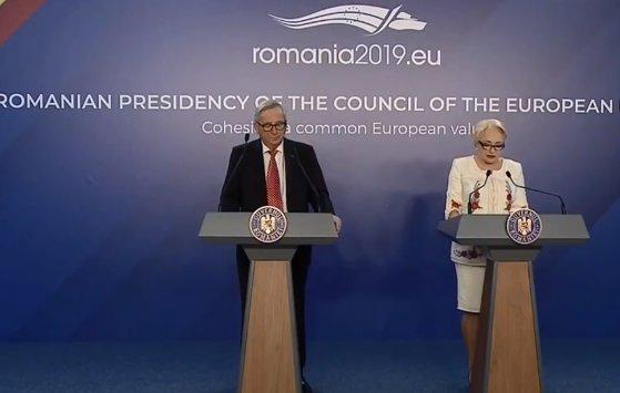 Imaginea articolului Întâlnire între Juncker şi Dăncilă, la Guvern. Preşedintele CE: Noi suntem trataţi ca nişte prinţi la Bucureşti. Am încredere că problemele interne nu se vor reflecta la nivel european