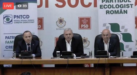 Imaginea articolului LIVE VIDEO - Liviu Dragnea: PNTCD şi PER susţin lista PSD la europarlamentare/ Aurelian Pavelescu: Iohannis a instaurat un regim personal de mână forte