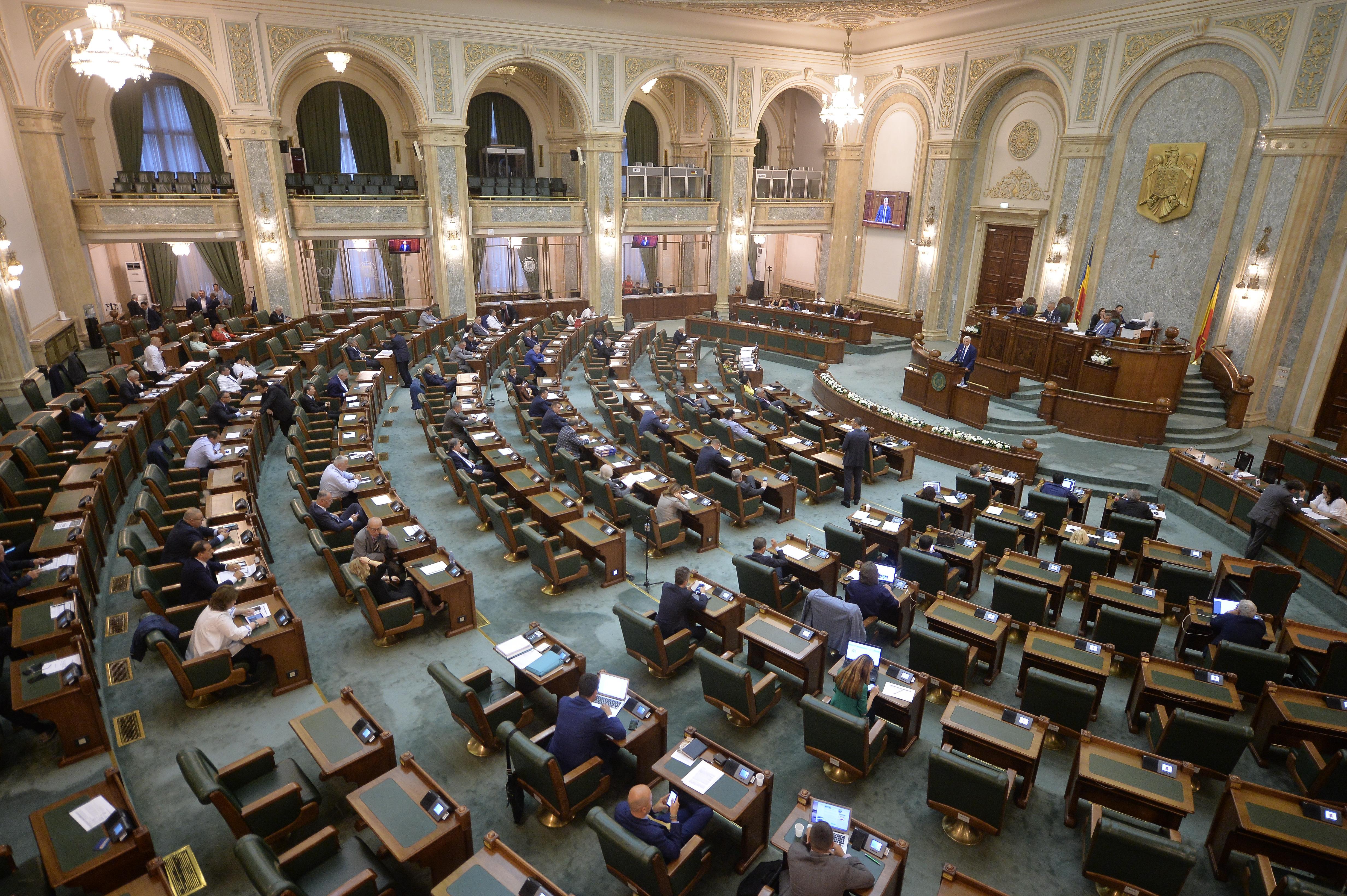 Scandal în plen. Senatul a suspendat şedinţa, pentru a decide dacă votează noua componenţă a Biroului permanent